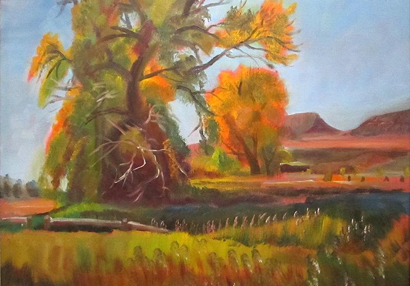 Spring Creek CanyonFort Collins, Colorado (Oil, landscapes) - Fine Art by Donald G. Vogl, Fort Collins, Colorado