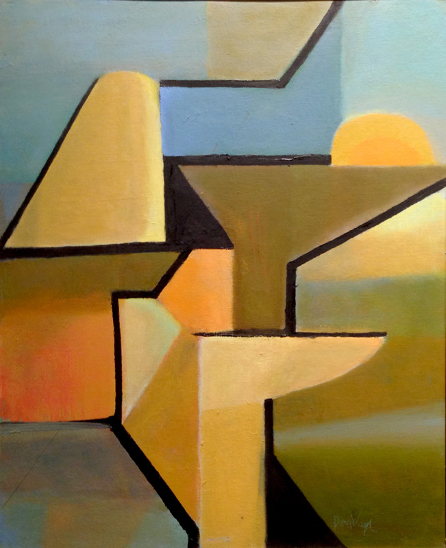 Structure (Oil, abstracts) - Fine Art by Donald G. Vogl, Fort Collins, Colorado