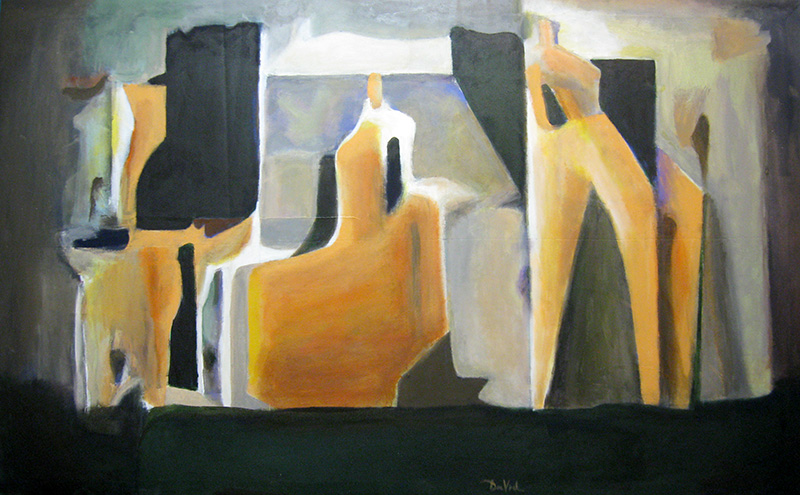 The Studio (Acrylic, abstracts figures) - Fine Art by Donald G. Vogl, Fort Collins, Colorado