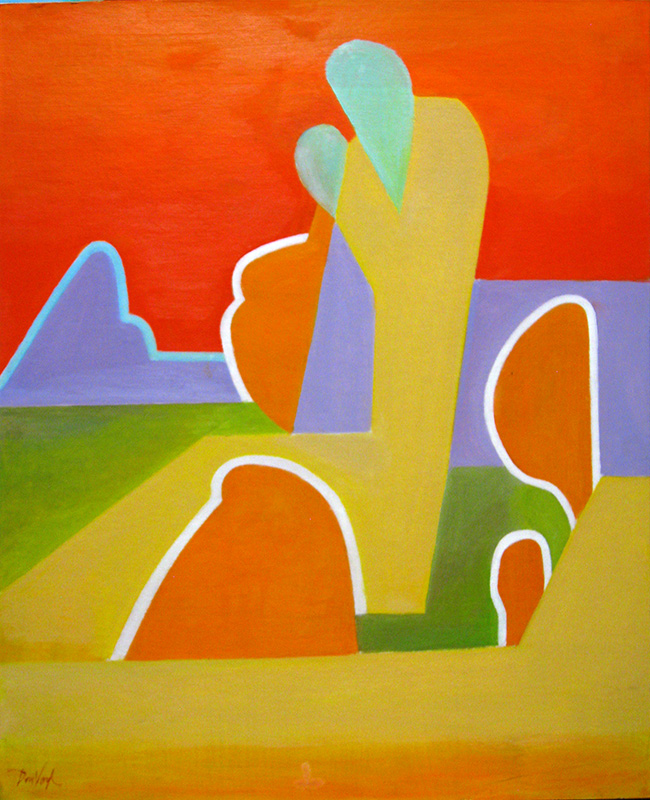 Summer Sun (Acrylic and Oil, abstracts figures) - Fine Art by Donald G. Vogl, Fort Collins, Colorado
