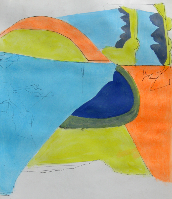 Summer Swing (Lithograph, abstracts) - Fine Art by Donald G. Vogl, Fort Collins, Colorado