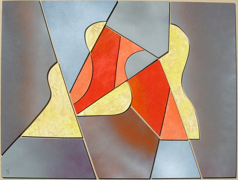 Trio (Wood Construction, collages) - Fine Art by Donald G. Vogl, Fort Collins, Colorado