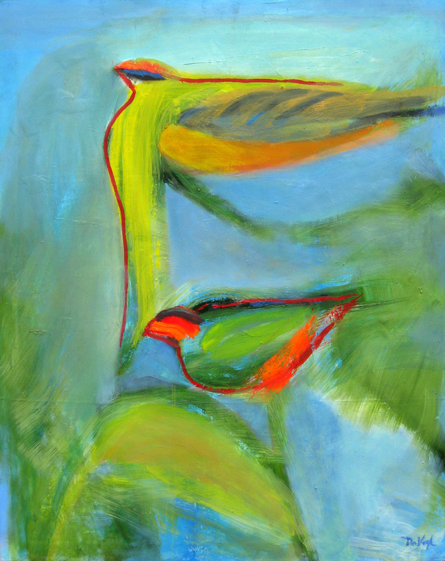 Tropical (Oil, abstracts) - Fine Art by Donald G. Vogl, Fort Collins, Colorado
