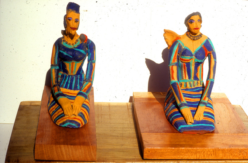 Two Sisters (Ceramic, ceramics) - Fine Art by Donald G. Vogl, Fort Collins, Colorado