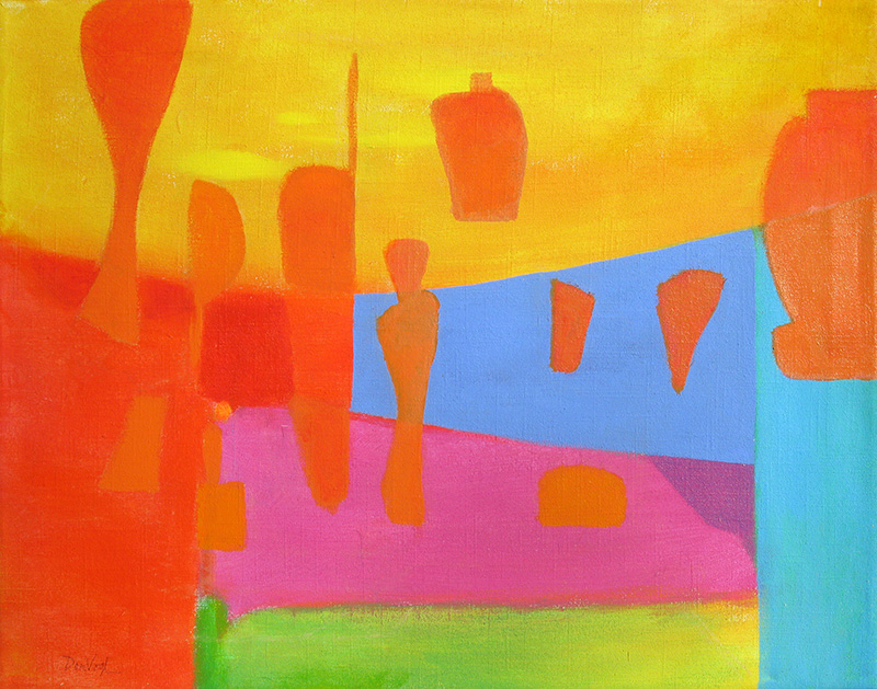 Under the Big Top (Acrylic, abstracts) - Fine Art by Donald G. Vogl, Fort Collins, Colorado