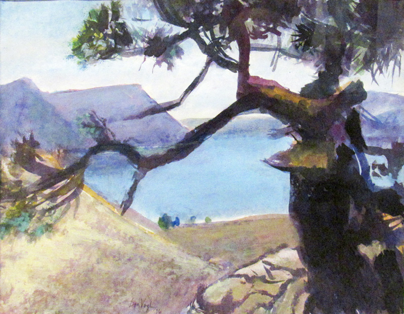 View of Horsetooth ReservoirFort Collins, Colorado (Watercolor and Pastel, landscapes) - Fine Art by Donald G. Vogl, Fort Collins, Colorado