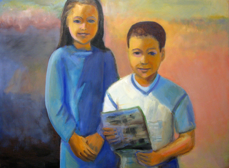 Visitor at Taos (Oil, portraits) - Fine Art by Donald G. Vogl, Fort Collins, Colorado