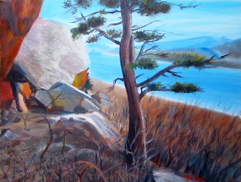Windy DayHorsetooth Reservoir, Colorado (Oil, landscapes) - Fine Art by Donald G. Vogl, Fort Collins, Colorado