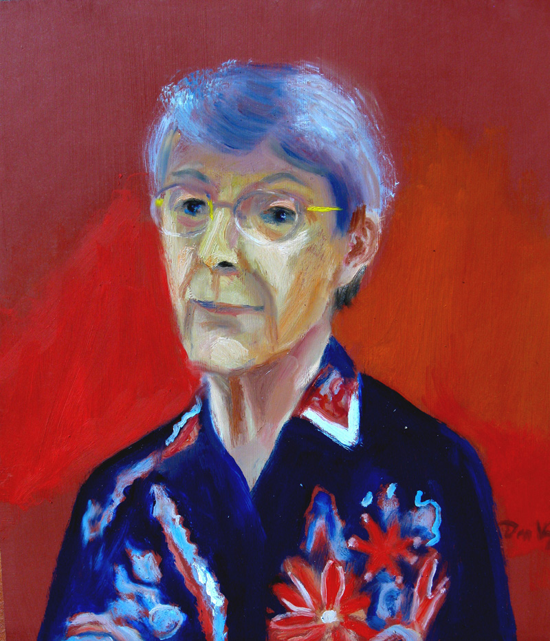 Woman (Red) (Oil, portraits) - Fine Art by Donald G. Vogl, Fort Collins, Colorado