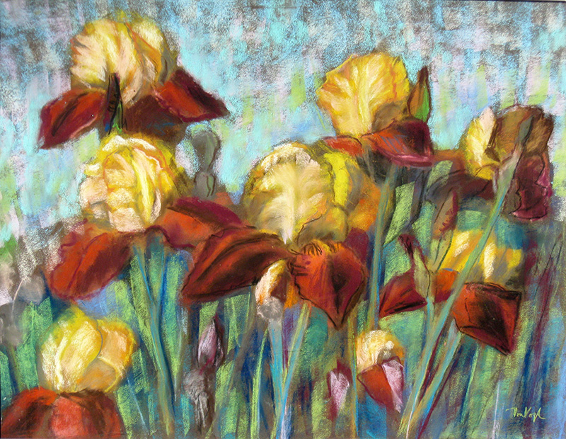 Iris (Pastel, still-lifes) - Fine Art by Donald G. Vogl, Fort Collins, Colorado