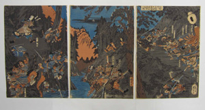 Untitled scene of the Battle of Kurikaradani by Utagawa Kuniyoshi (1798 - 1861)