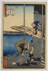 Onmayagashi Embankment in Asakusa by Utagawa Hirokage 1860