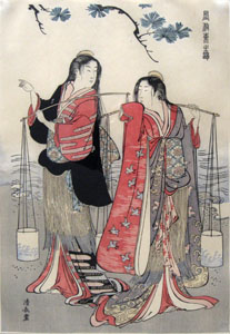 The Dance of the Beach Maidens from the series Brocade of the East by Torii Kiyonaga 1770