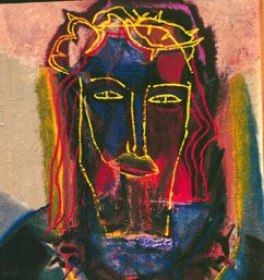 Head of Christ (Oil, portraits christian) - Fine Art by Donald G. Vogl, Fort Collins, Colorado