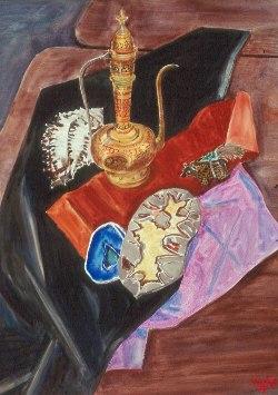 Oriental Tea (Watercolor, still-lifes) - Fine Art by Donald G. Vogl, Fort Collins, Colorado
