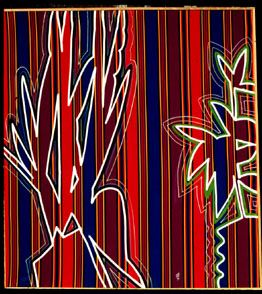 Snakeroot (Acrylic on Fabric, abstracts) - Fine Art by Donald G. Vogl, Fort Collins, Colorado